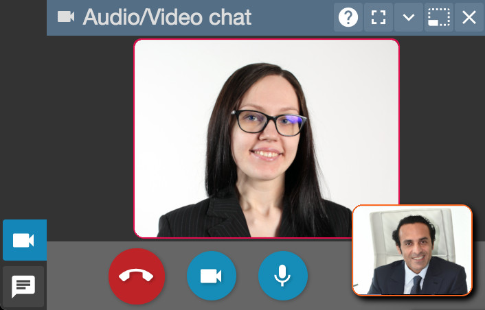 Audio-video chat interface